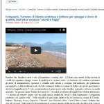105 tv - il Cilento continua a brillare per spiagge e mare di qualità - 08/06/2013