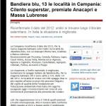 Il Mattino - Bandiera Blu - 14/05/2013